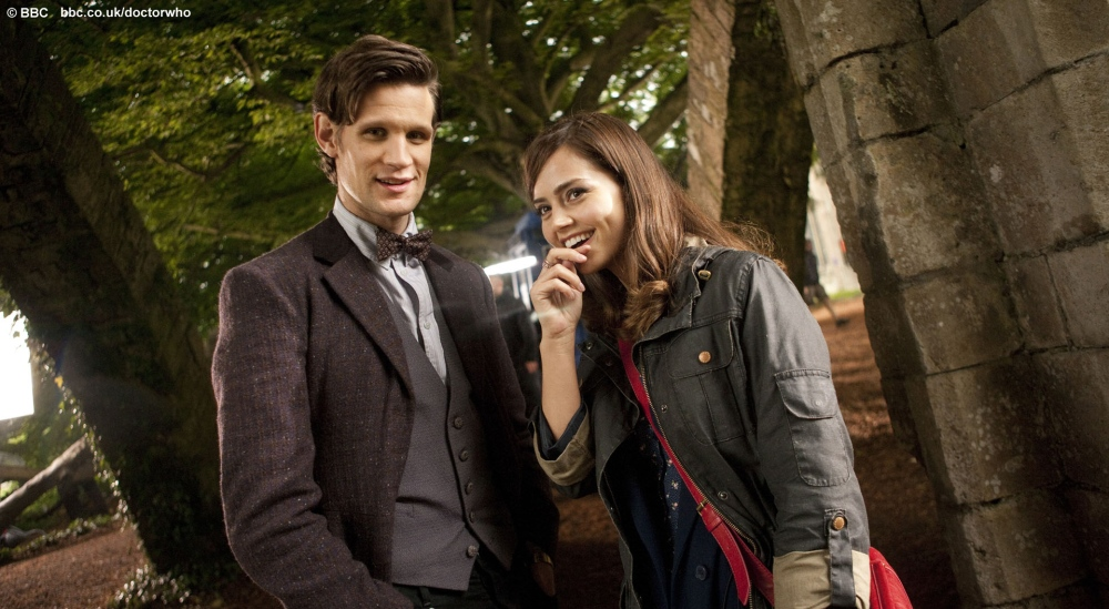 Doctor Who: First official on-set photo of Matt Smith and Jenna-Louise Coleman!